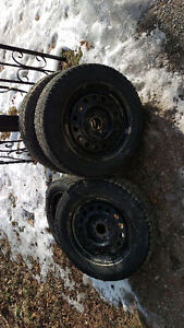 Set of 4 225/60R17  Used 1 month winter tires and rims.