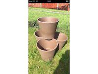 4 terracotta garden plants pots NEW
