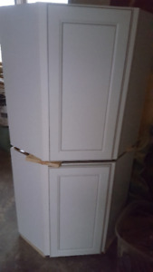 """Corner cabinets - never installed, off white 24"""""""