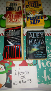 100's of different Novels for sale, GREAT for x-mas presents!!!