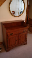 Colonial style Vilas solid maple dry sink