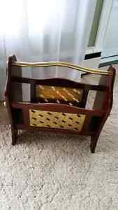 Newspaper / Bookcase Stand Cherry Wood EUC.