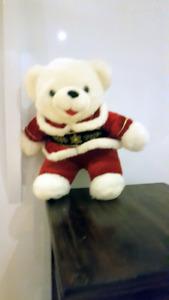 WHITE SANTA DOG / WHITE SANTA BEAR