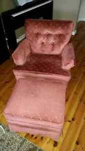 Chair and ottoman set Peterborough Peterborough Area image 1
