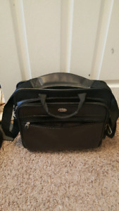 2....Black leather computer/ briefcases