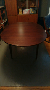 Mid century dining table with new finish
