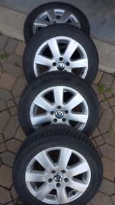 """VW 16"""" Mags 5x112 and 4 Champiro 328 Summer Tires 205/55 R16 91H"""