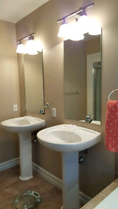Tv trolly, bathroom sink with stand and Apple Airport Extreme