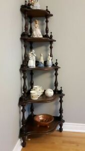 Antique corner shelve unit