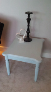 Mint green end table