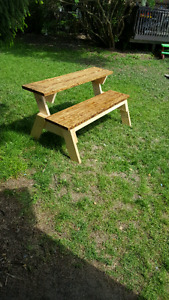 Convertible picnic table/ bench (( made to order ))