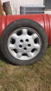 15 inch aluminum rims from Mazda 626 - (4 rims)