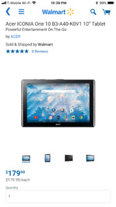 RCA, Acer and Leapfrog Brand New Sealed in the Box Tablets