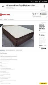 Double mattress set with boxspring. Pillow top