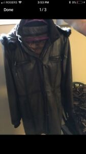 Small Danier Leather Long Jacket