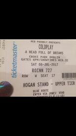 2 Coldplay tickets - SEATED SEPARATELY