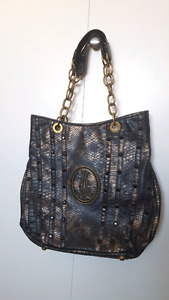Christian Audigier bag - black and dark gold