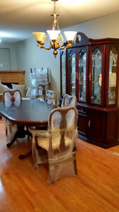 Formal Cherry Wood Dining Table Set