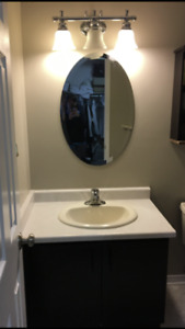 3 Light Vanity and Oval Mirror