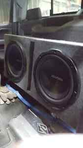 "2 12"" Kenwood subs with box"