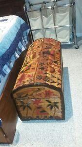 Wood Storage Trunk