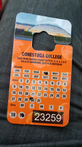 Selling conestoga college parking pass