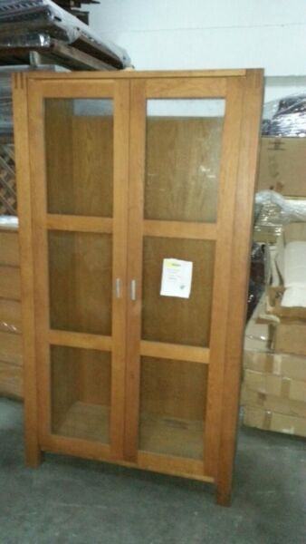 European Oak Cupboard with 2 shelves