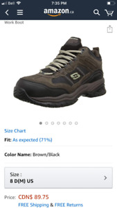 New Skechers safety shoe size 8 mens