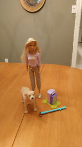 Barbie with Eating Dog