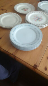Two 22 kt gold dinner plates/ Georgian china. $5.00 a piece.