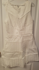 Lace and Cotton White Dress for Sale