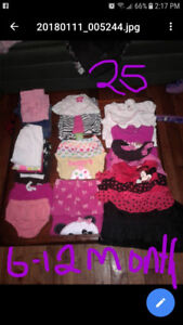 6-12month girl clothing lot