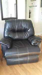 Two leather recliners