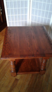 Solid Red Oak Table