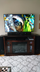 Meuble foyer électrique audio-vidéo/ Fireplace media console