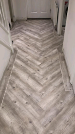 Luxury vinyl tiles frosted timber