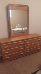 Bed Frame, Dresser, and Nightstand $100 OBO will sell separately