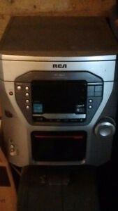 RCA 5 disk tape and tuner stereo