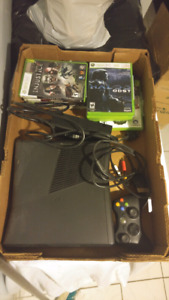 Xbox 360 with 10 games.