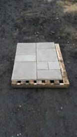 Random Paving Slabs Straight Edge Riven
