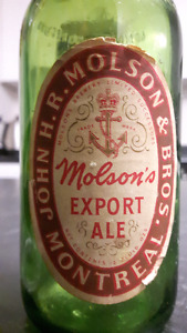 1940's John H.R. Molson and Bros. Montreal Molson Export Bottle