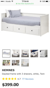 almost new IKEA bed frame
