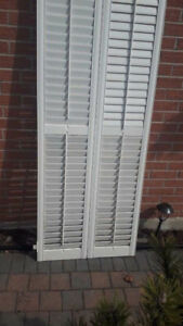 White Wood Fold-out Shutters