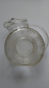 Federal Depression Glass Big Ben flat-sided ribbed tilt pitcher