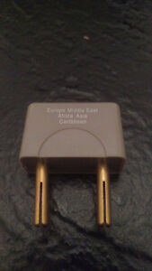 Adaptor Plug for Europe, Middle east, Asia, Africa, Caribbean