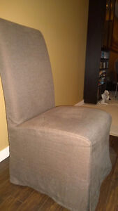 Slip Covered Dining Chairs from Finesse (4) Edmonton Edmonton Area image 2