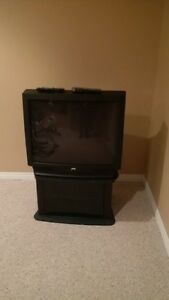 """32"""" JVC television with matching tv stand"""