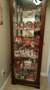 Maple curio cabinet