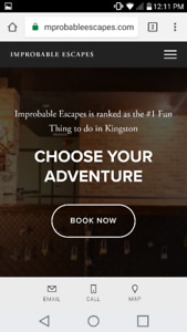 2 Tickets to Improbable Escapes have an adventure with friends!