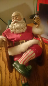 Coca Cola Santa in Rocking Chair Boxed